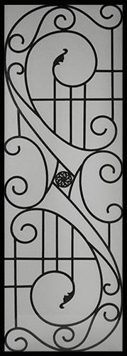 Alfred Wrought Iron Door Insert
