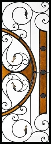 Allison Stained Glass Door Insert