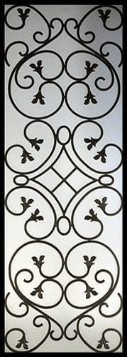 Anastasia Wrought Iron Door Insert