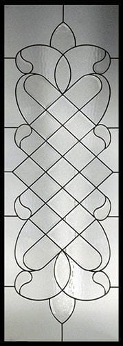 Aurora Stained Glass Door Insert