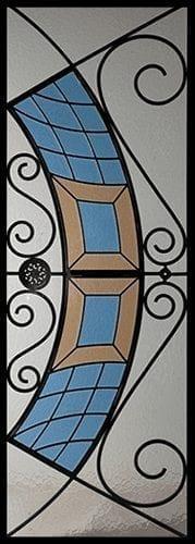 Cascade Stained Glass Door Insert