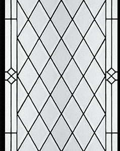 Diana Stained Glass Door Insert