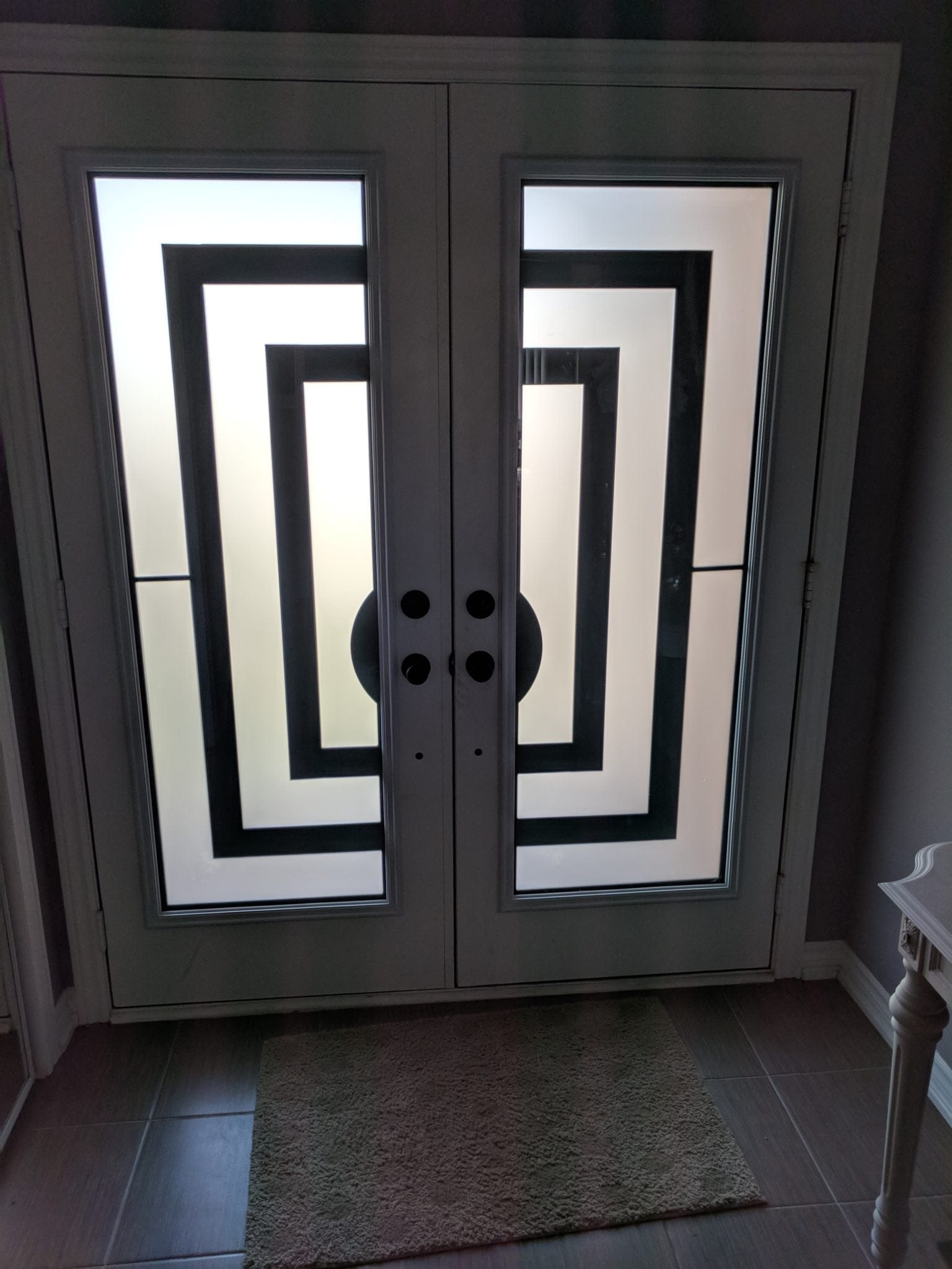 Door System plus 2 full size wrought iron inserts
