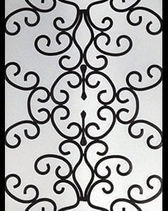 Paradise Wrought Iron Door Insert