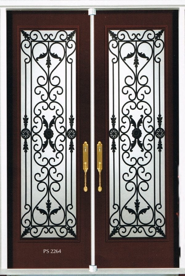 Port Stanly Wrought Iron Door Inserts