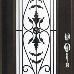 Portland Wrought Iron Door Insert