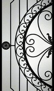 Regent Wrought Iron Door Insert