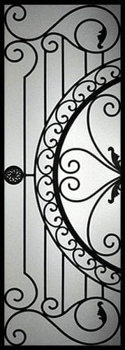 Regent Wrought Iron Door Insert