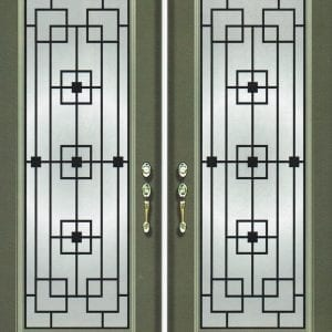 San Francisco Wrought Iron Door Insert