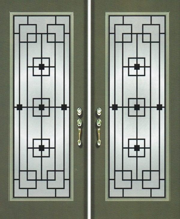 San Francisco Wrought Iron Door Insert