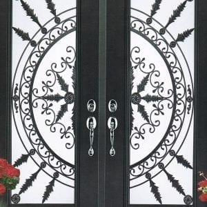 San Pedro Wrought Iron Door Insert