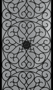 Solstice Wrought Iron Door Insert