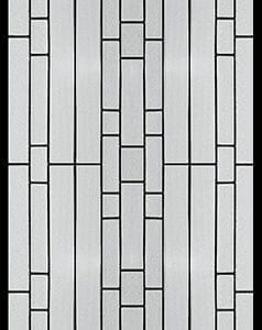 Waterfall Stained Glass Door Insert