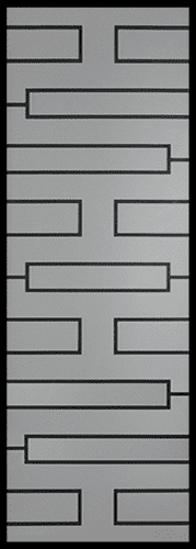 Zen Wrought Iron Door Insert