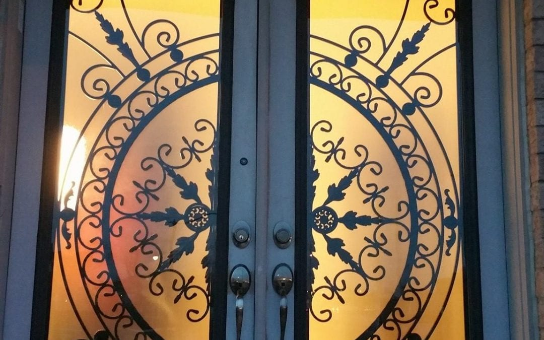 How Private is a Wrought Iron Door Insert